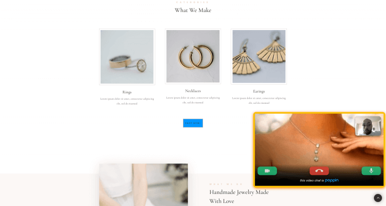 jewelry website video chat